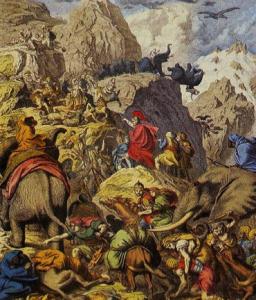 Annibale varca le Alpi con gli elefanti
